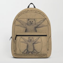 The Vitruvian Bear Backpack