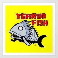 Terror fish Art Print