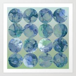 Blue Moons Art Print