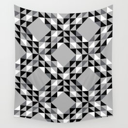 Cool Grey Ocean Waves Pattern Wall Tapestry