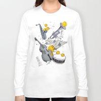 jazz Long Sleeve T-shirts featuring Jazz Jazz Jazz by Philipp Zurmöhle