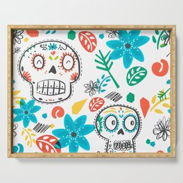 Summer sugar skulls Serving Tray