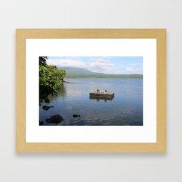 Floating Deck Framed Art Print