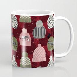 Knitted Zebra Beanie Coffee Mug