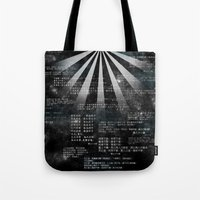 bible verses Tote Bags featuring Tao Te Ching Verses by Manimal Dynamics