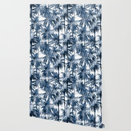 Blue palm trees Wallpaper