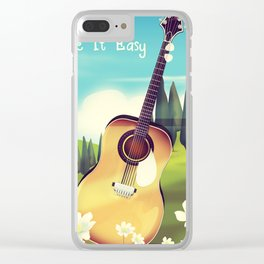 Take it Easy guitar poster. Clear iPhone Case