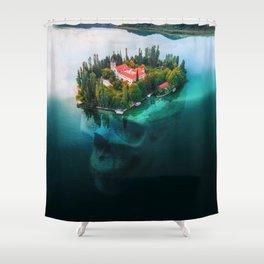 Island Skull Shower Curtain