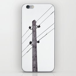 Old Utility pole iPhone Skin