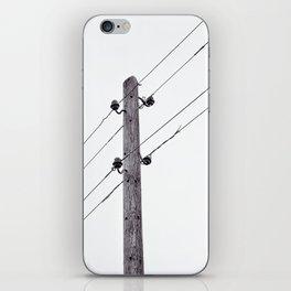 Old Utility pole iPhone Skin