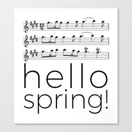 Hello spring! (white) Canvas Print