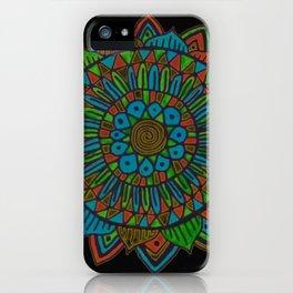 Glow Doodle Mandala iPhone Case