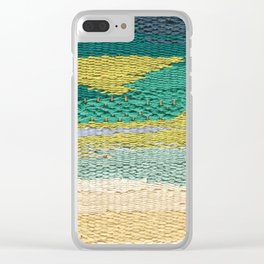 Green Weaving Clear iPhone Case