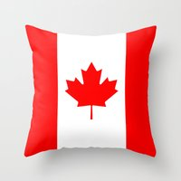canada Throw Pillows featuring Canada by McGrathDesigns
