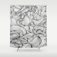 fabric Shower Curtains featuring Fabric by DuckyB