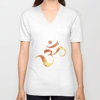 om V-neck T-shirts featuring OM by Alexandra Doerge