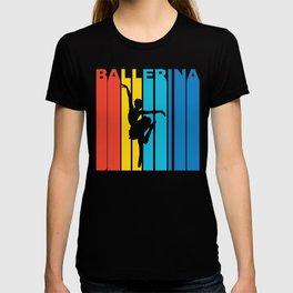 Retro 1970's Style Ballerina T-shirt