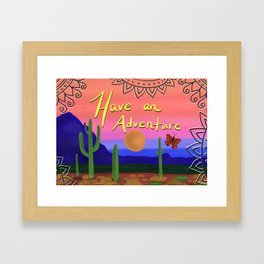 Adventuring Framed Art Print