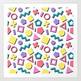 Pastel 90's Pattern Art Print