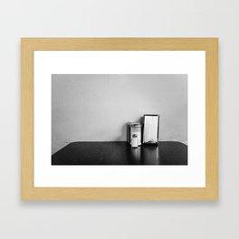Salt and sugar Framed Art Print