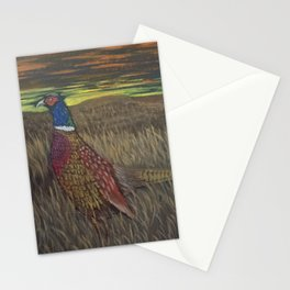 Rooster Pheasant at Sundown Stationery Cards