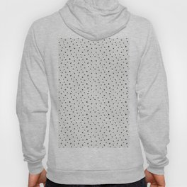 Hand painted black white watercolor polka dots brushstrokes Hoody