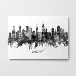 Chicago Illinois Skyline BW Metal Print