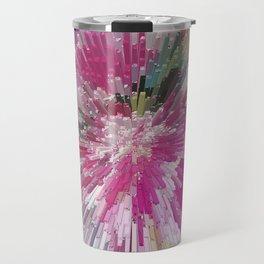 Abstract flower pattern 3 Travel Mug