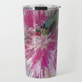 Abstract flower pattern 3 Travel Mug