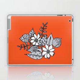 Orangey Gray Floral Laptop & iPad Skin