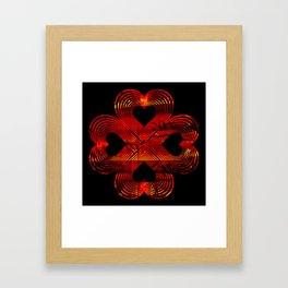 Valentines - Lucky in Love Framed Art Print