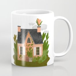 Little cozy countryside house in green Coffee Mug