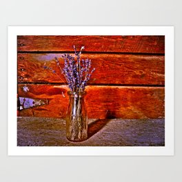 Milk Bottle Vase Art Print