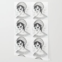 Flapper Girl in cap Wallpaper