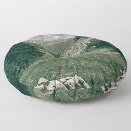 Peaceful Mountains | Landscape Photography Alps | Print Art Floor Pillow