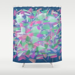 Bright Colored Shards Shower Curtain