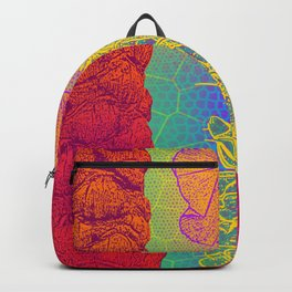 Yellow Cactus Tree Trunks Backpack