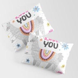Love you lama Pillow Sham
