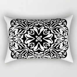 Polynesian style tattoo mandala Rectangular Pillow