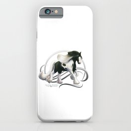 Black Tobiano Gypsy Vanner Horse iPhone Case