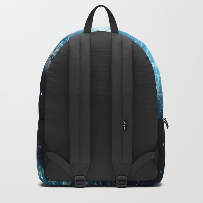 Crab Nebula : Aqua Teal Blue Galaxy Backpack