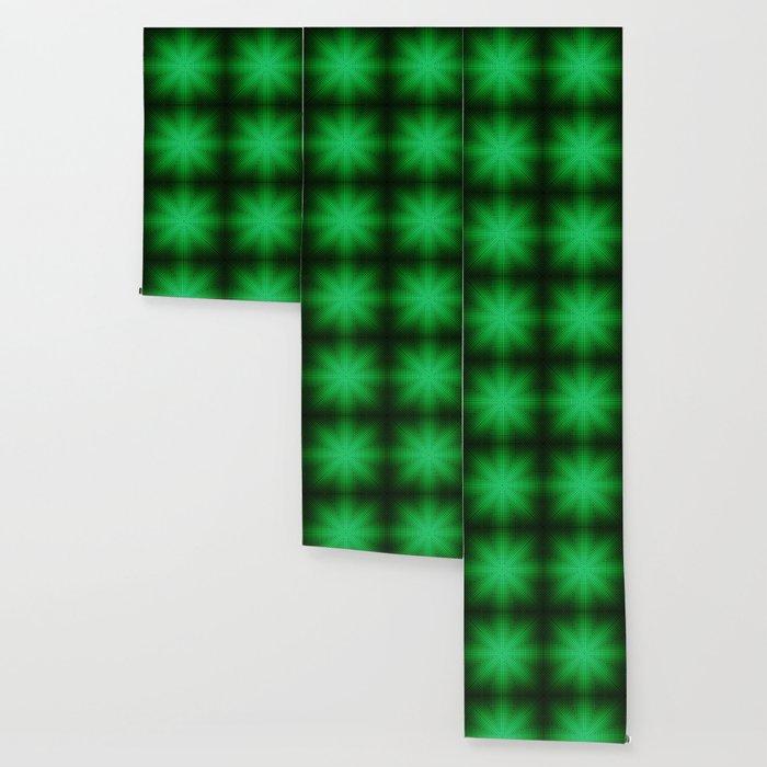 Modern Geometric Emerald Pattern Abstract Wallpaper By