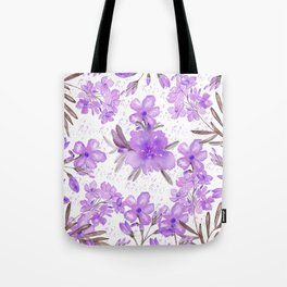 Watercolor lavender lilac brown modern floral Tote Bag