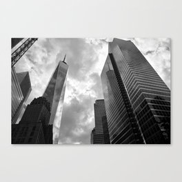 Heaven's Reach in Black and White Canvas Print