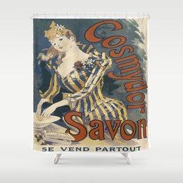 Vintage poster - Cosmydor Savon Shower Curtain