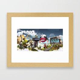 Blurt Framed Art Print