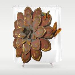 metallic Buttrfly Shower Curtain