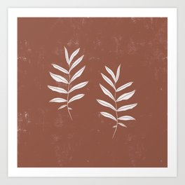 Abstract Leave Pattern Art Print