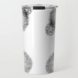 Black Dandelion On White Background Travel Mug