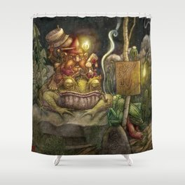 A special delivery / Un envío especial Shower Curtain
